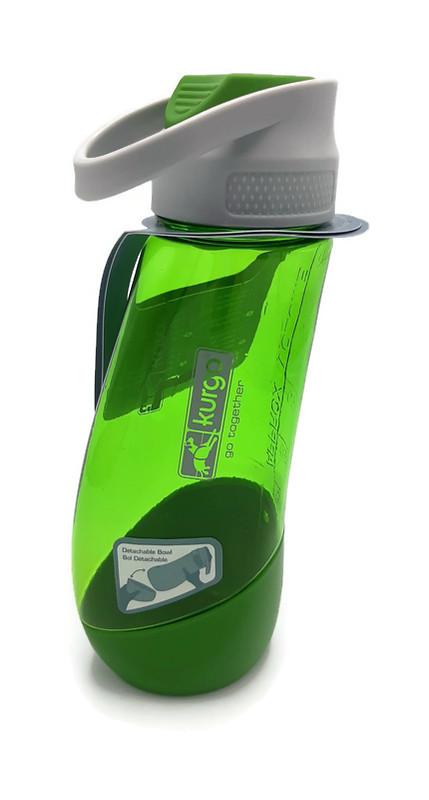H2O Bottle & Bowl, De Kurgo Gourd (Groen)