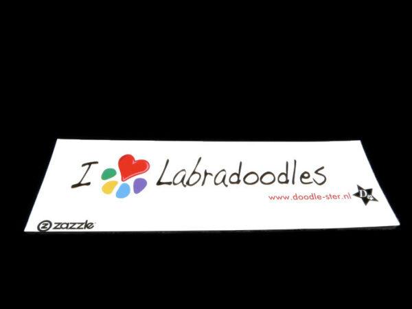 Bumper Sticker (I love labradoodles)
