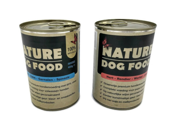 Eend, Zalm, Garnalen en Spinazie (Natvoer van Nature Dog Food)