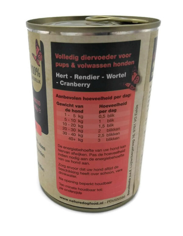 Hert, Rendier, Wortel en Cranberry (Natvoer van Nature Dog Food)