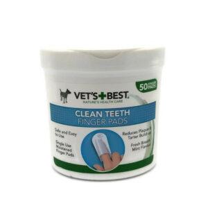 Vet's Best; clean teeth fingerpads (50 stuks)