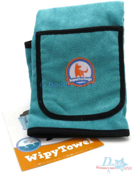 WipyTowel (Super Fur Dogs) Aqua Groen