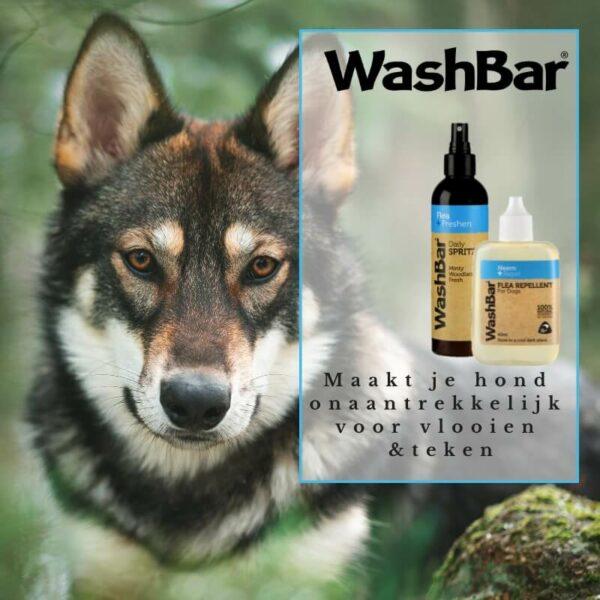 100% natuurlijke vacht-olie; een natuurlijk alternatief - WashBar